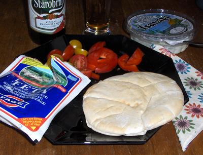 Pitabröd med feta