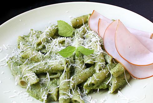 pasta med spenatsås