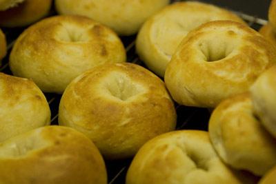 Nygräddade bagels