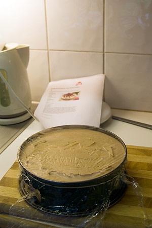 Mjölchokladtårta - redo för frysen