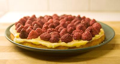 Tårta med smak av lemon curd