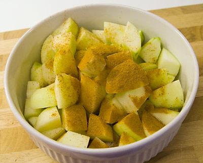 Äpplen med kanel