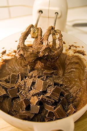Vänd ner chokladhacket