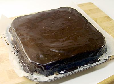 Glaserad brownie
