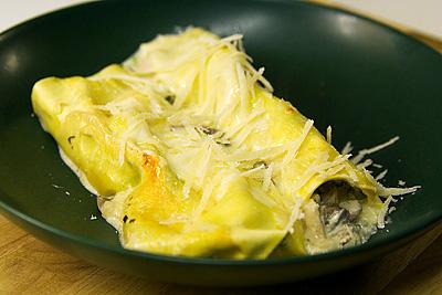 Kyckling- och spenatcannelloni