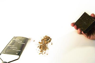 Chokladspån efter en Microplane