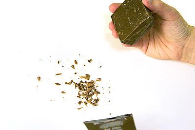 Chokladspån efter rivjärnet