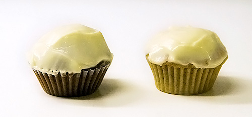 Minimuffins med cream cheesefrosting