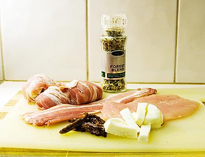 Ingredienser till fyllda kycklingfiléer