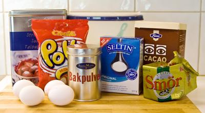 Ingredienser till Pollykaka