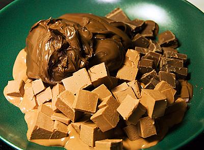 Choklad, nougat och  Nutella