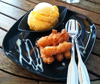 Friterad mango