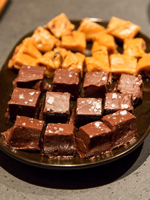 Nutellafudge och Fudge med tranbär och syltad ingefära