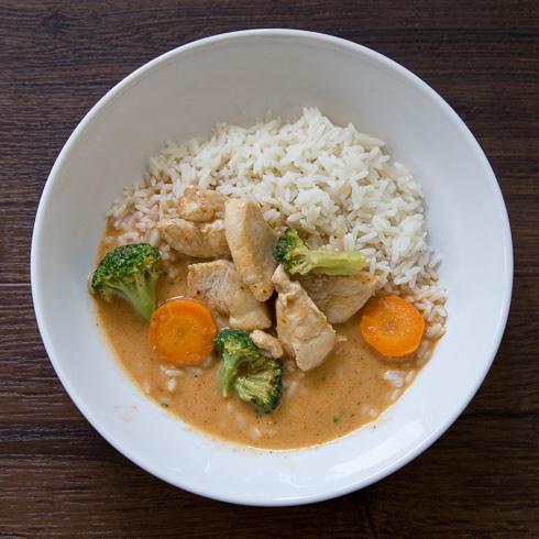 Kyckling med röd curry