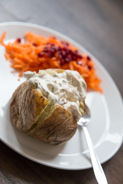 Bakad potatis med kycklingfyllning