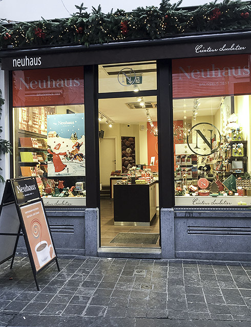 Neuhaus chokladbutik i Bryssel