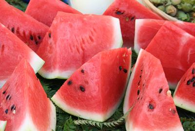 Marknad - vattenmelon