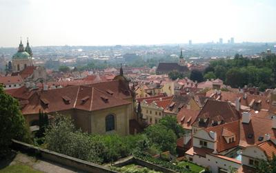 Utsikt över Prag