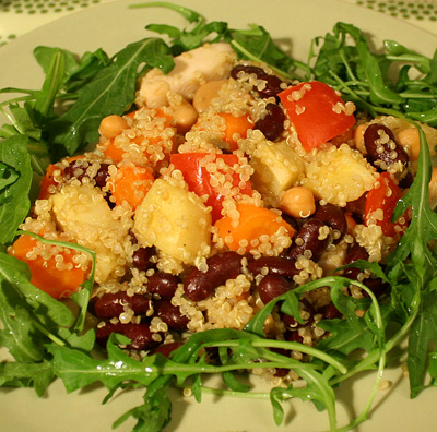Varm quinoasallad med kyckling