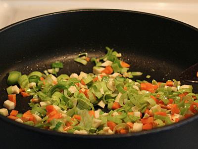 fräs grönsakerna
