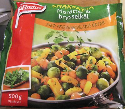 djupfrysta grönsaker