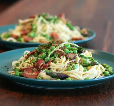 spaghetti med bacon