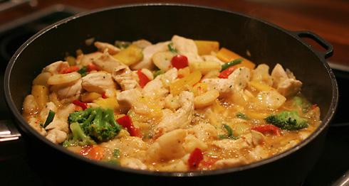 thailändsk wok recept