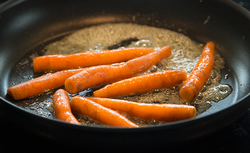 smörstekta morötter