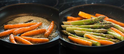 morötter och sparris