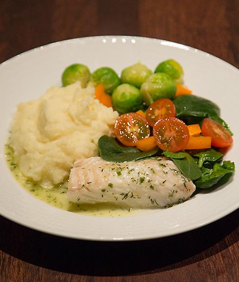 fisk potatismos grönsaker