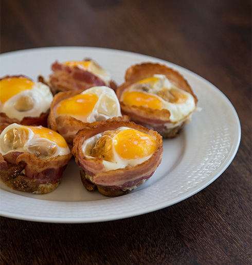 bacon ägg muffins