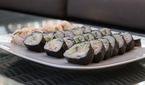 hemmagjord sushi