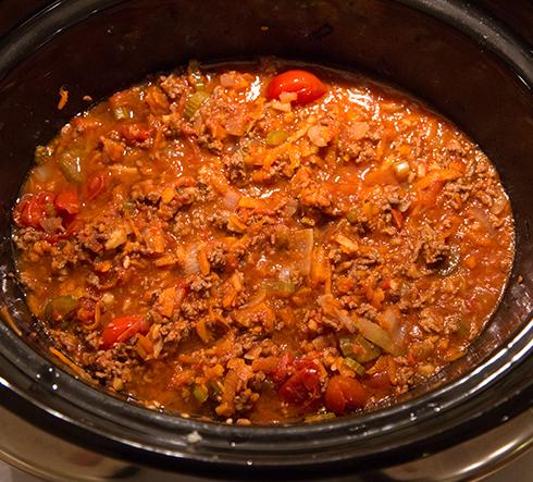 köttfärsås i crock pot