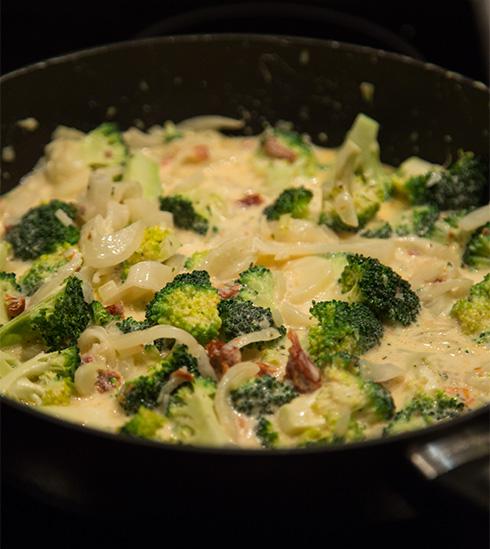 pasta med fänkål och broccoli