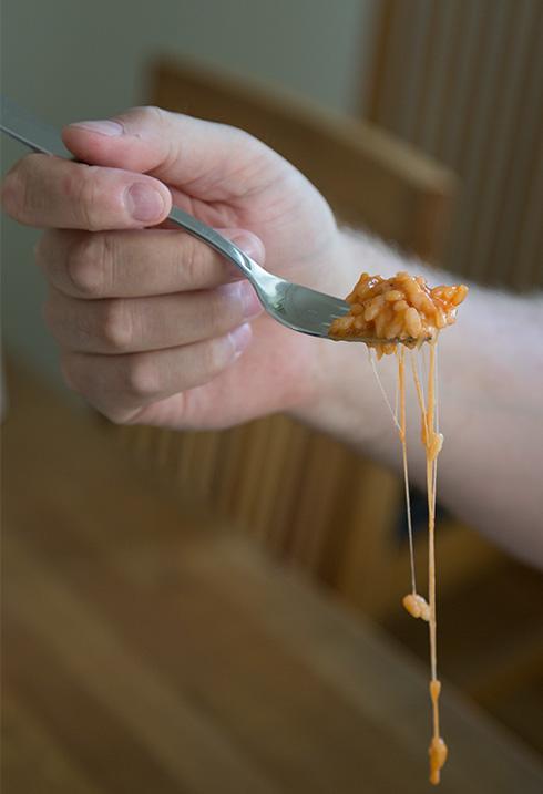 krämig mozzarella
