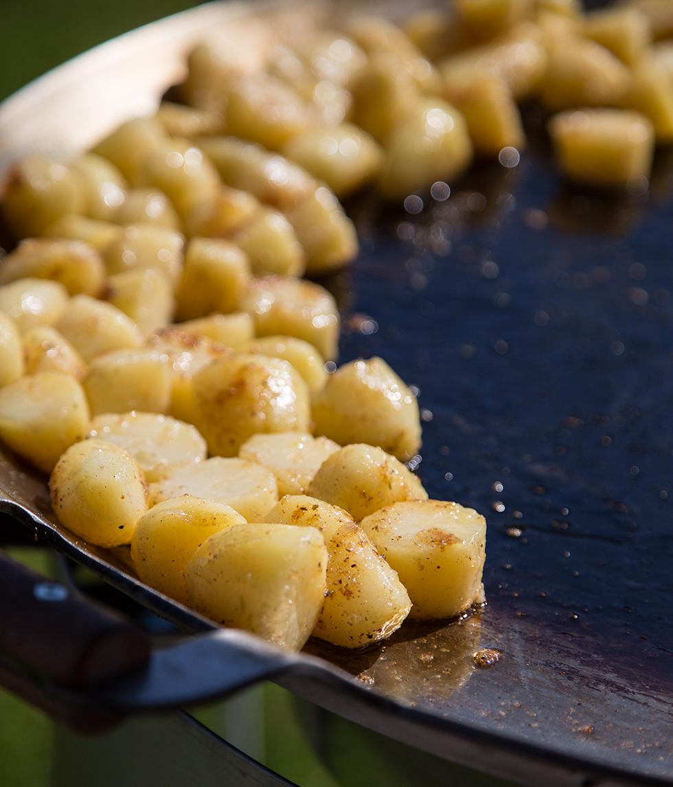 stekt potatis