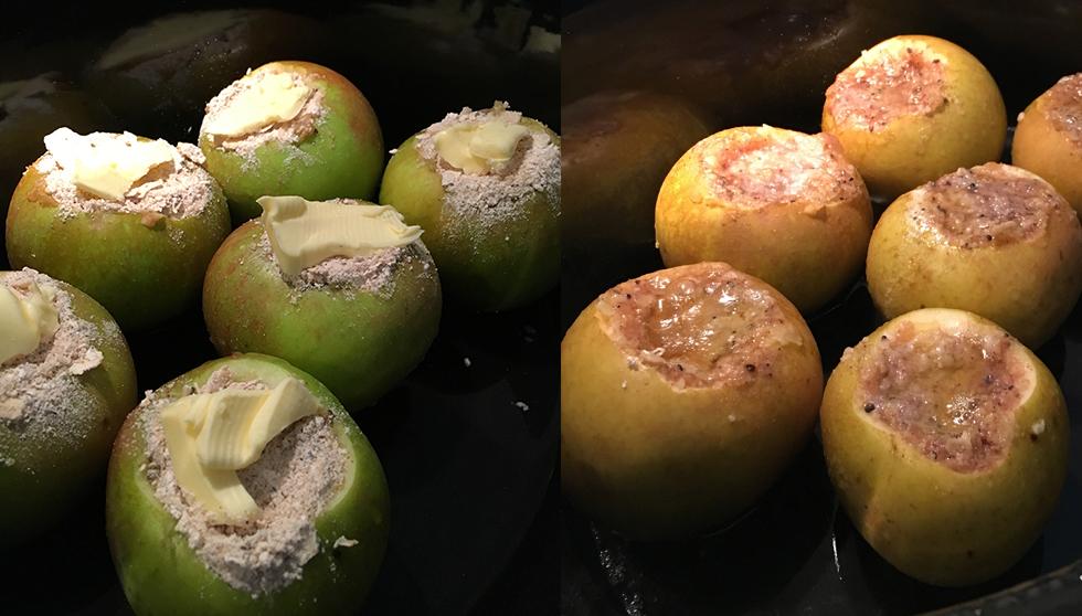 slow cooker bakat äpple