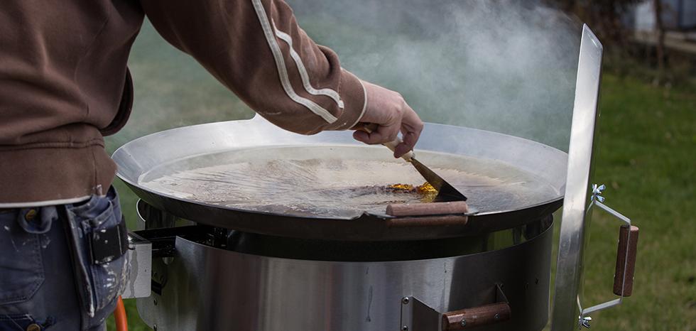 rengöring av stekhäll