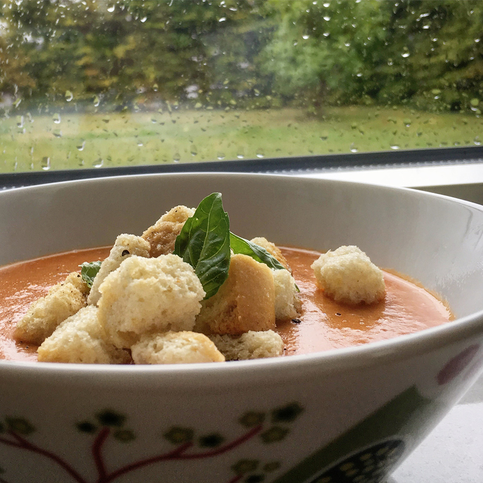 Annas tomatsoppa med sötpotatis och kokosmjölk