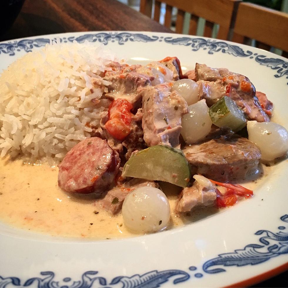 Kreolskans söndagsgryta anpassad till slow cooker