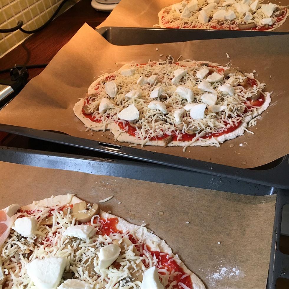 durumpizza med vetesurdeg
