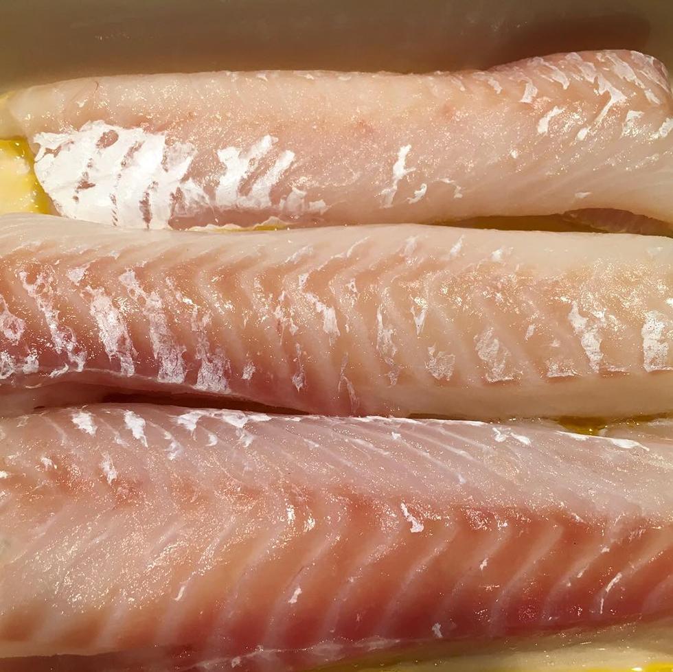 Ugnsbakad torsk i smör- & gräddsås med tomater och dill