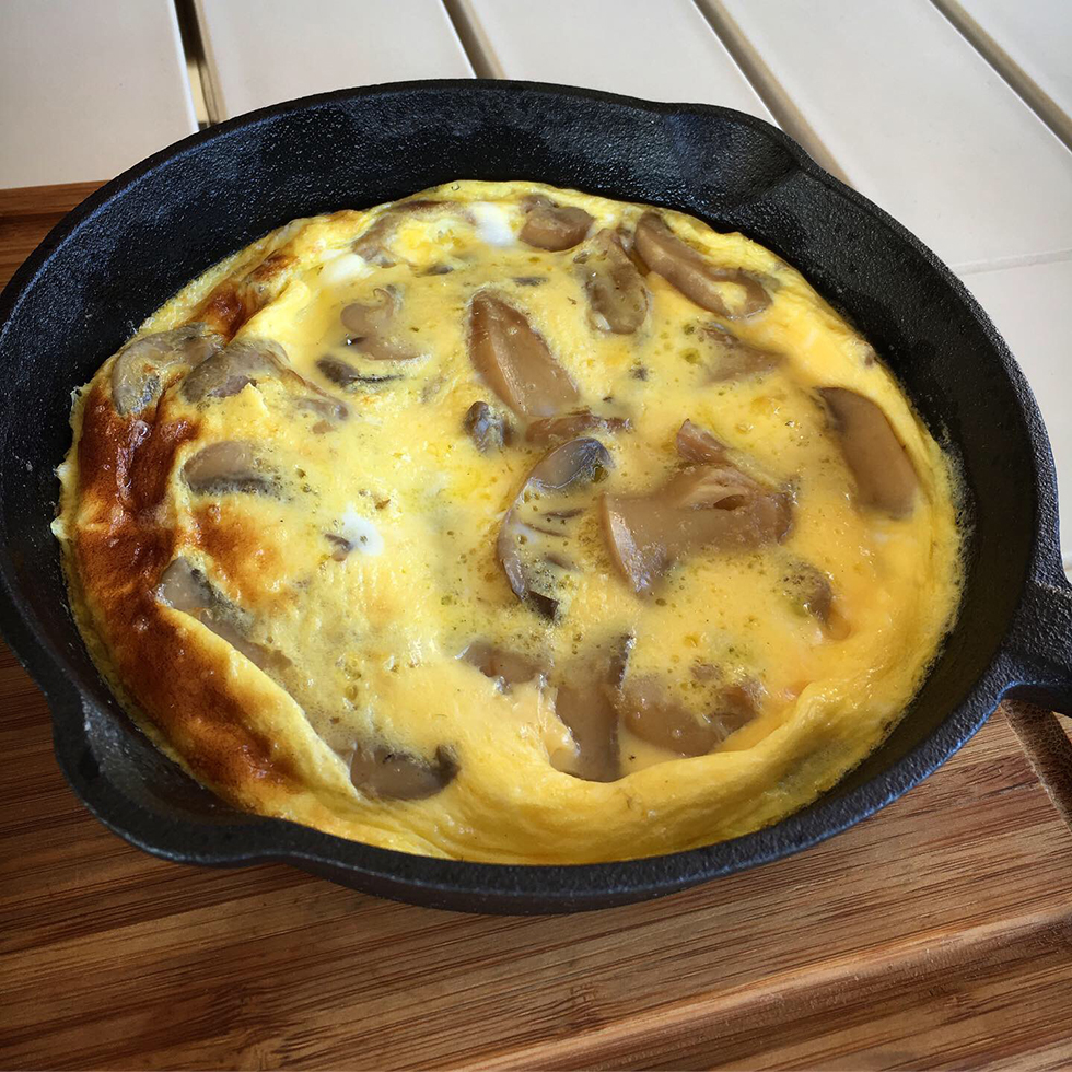 Vedugnsbakad omelett