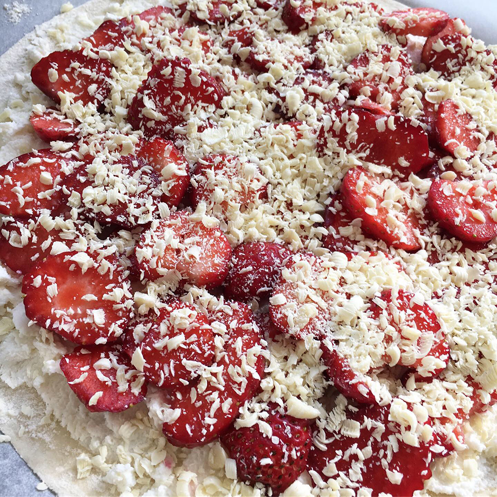 Jordgubbspizza