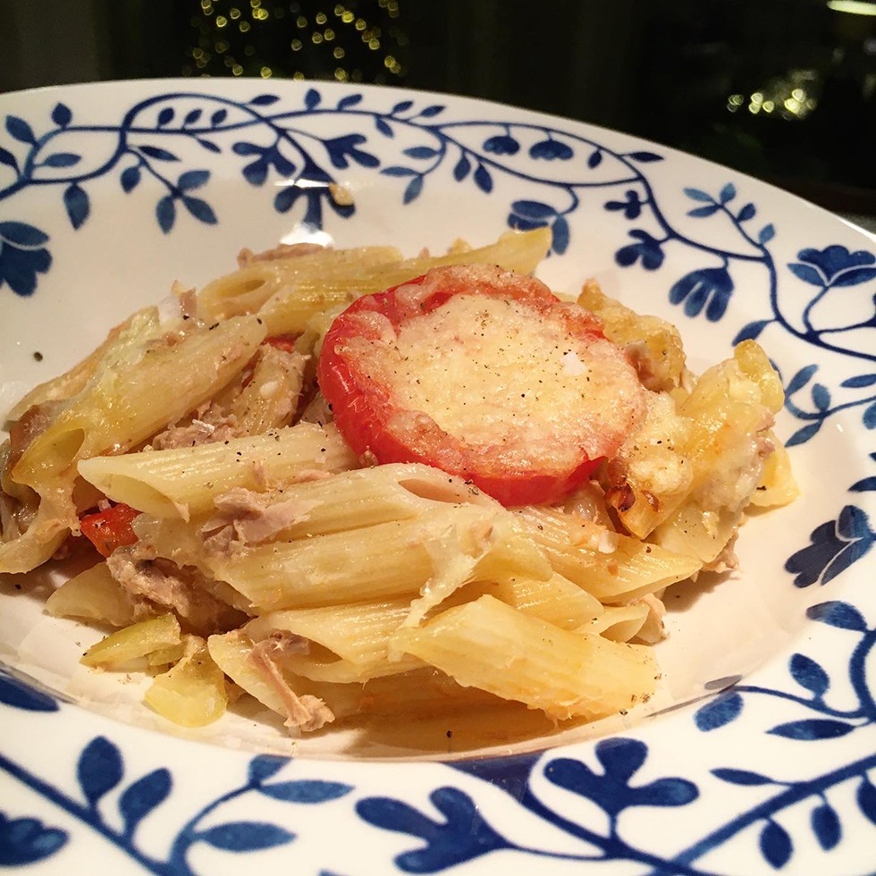 Matplanering och tonfiskgratäng med pasta