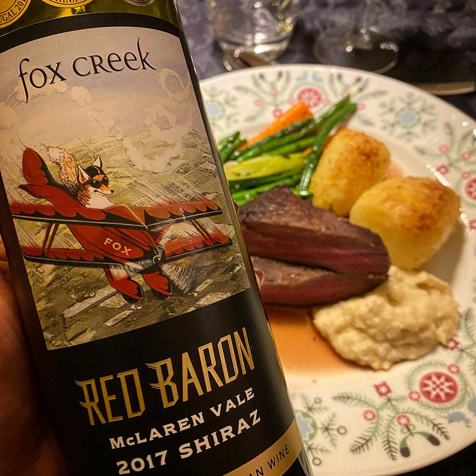 red baron vin till kött