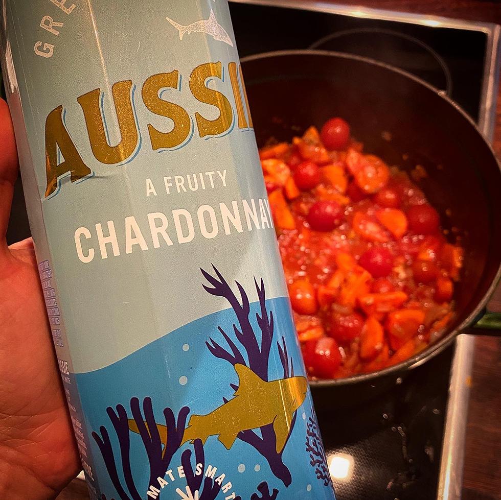Fänkålsdoftande fiskgryta  och aussi chardonnay