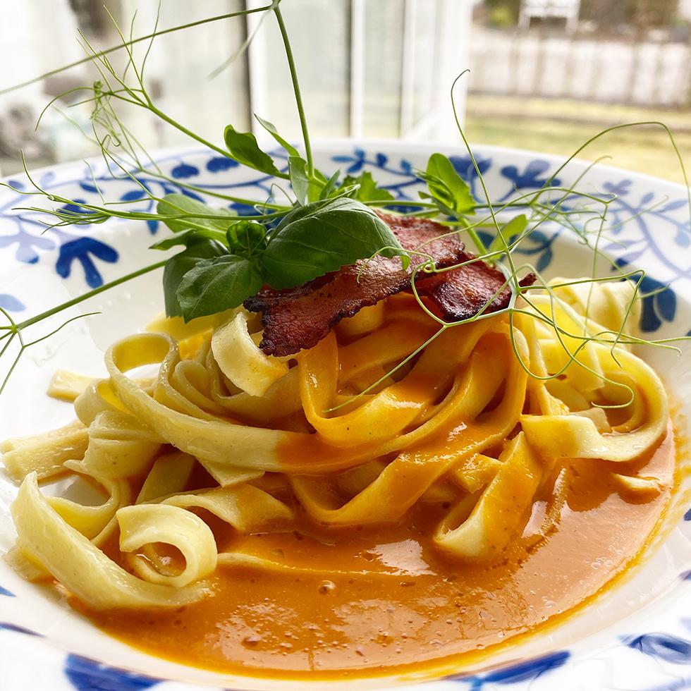Pasta med tomatsås och matinspiration