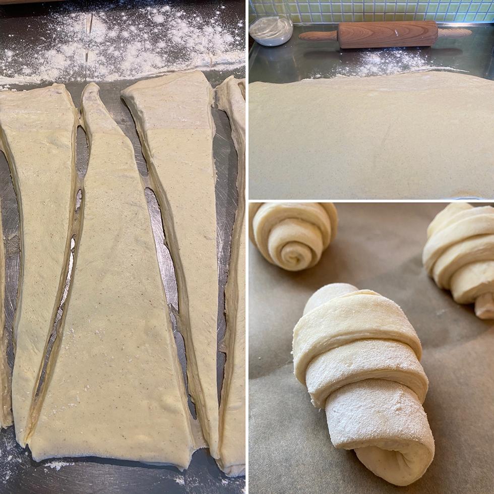 surdegscroissanter med steg för steg bilder