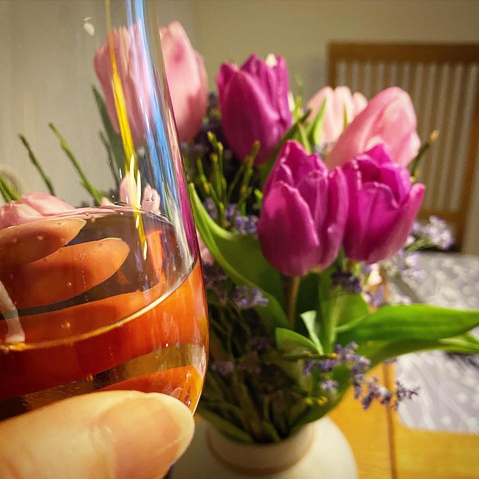 Vackra tulpaner och bubbel